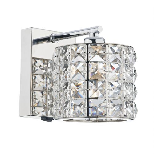 Agneta 1 Light Wall Bracket Polished Chrome (Class 2 Double Insulated) BXAGN0750-17